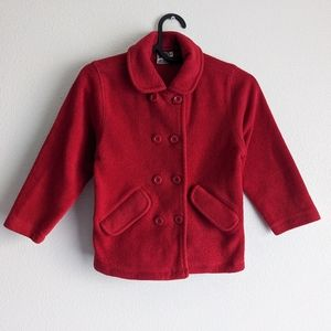 High Sierra Red Button Up Coat Size M